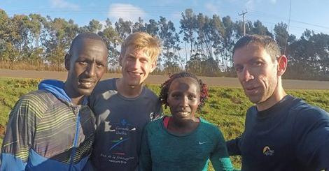 Le marathonien Nathanaël Bordes en stage au Kenya avant de courir à Francfort